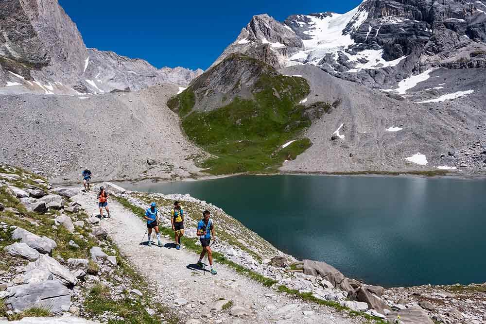 HOKA athlete Julien Chorier and friends in the mountains