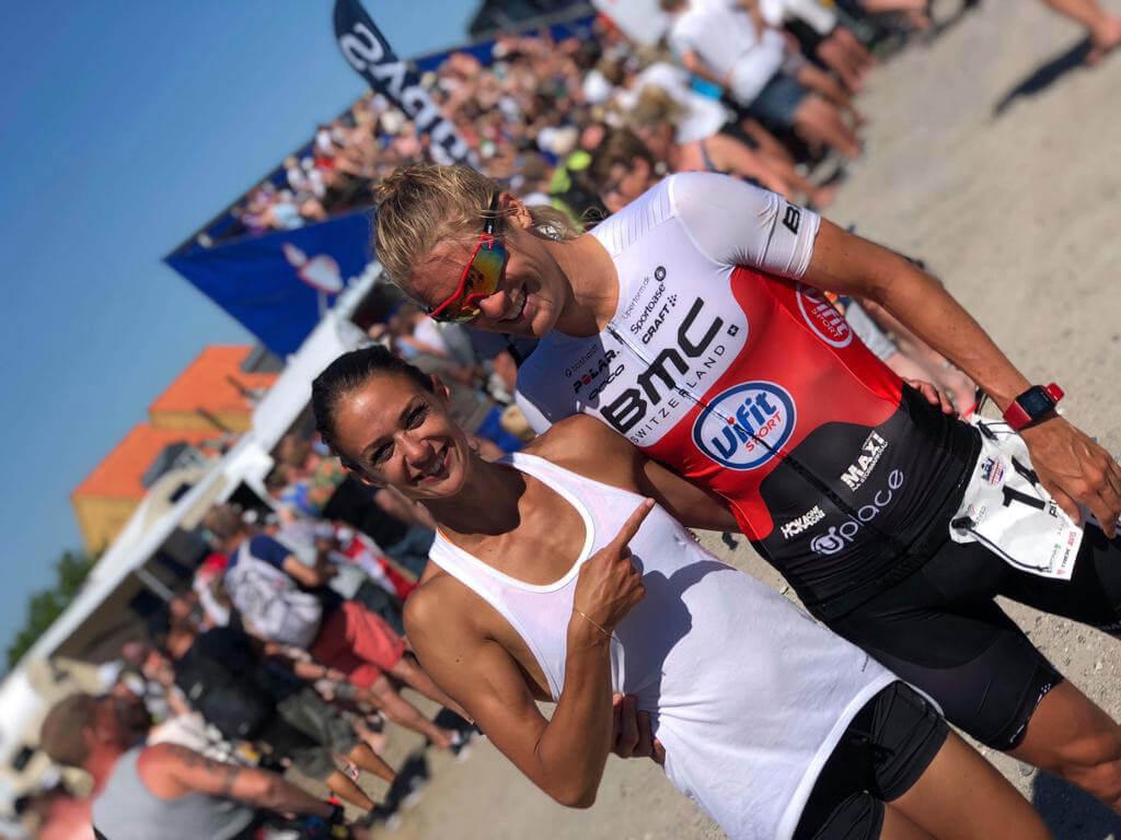 HOKA athlete Patrik Nilsson with his girlfriend and coach Teresa