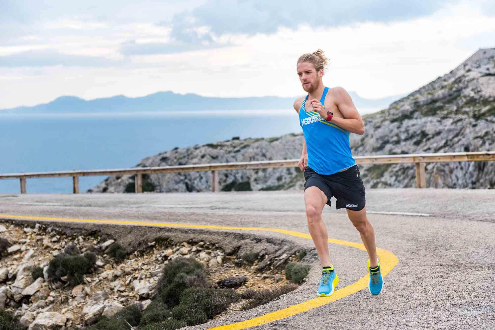 HOKA athlete Patrik Nilsson training in Mallorca