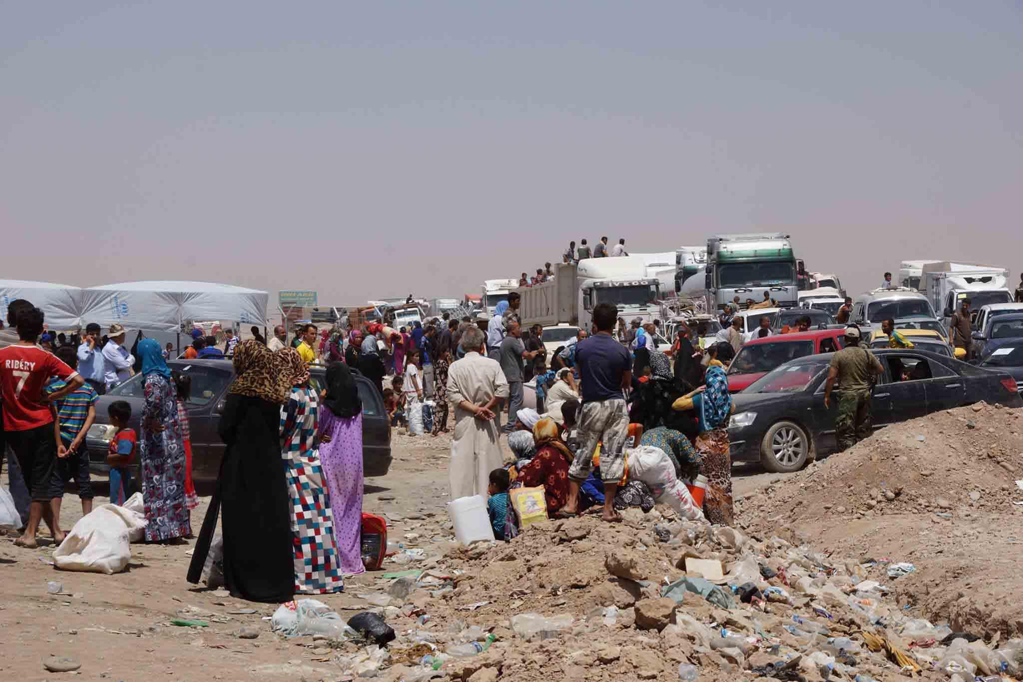 The scene in Irag where HOKA fan Rob Trigwell worked as an aid worker