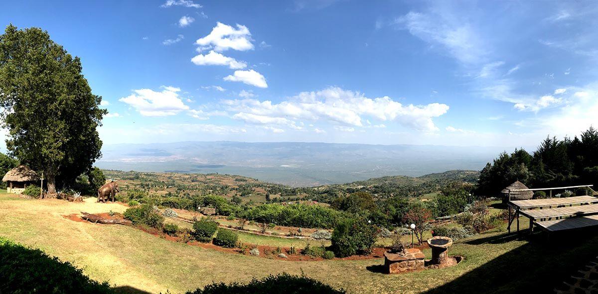 The view in Kenya