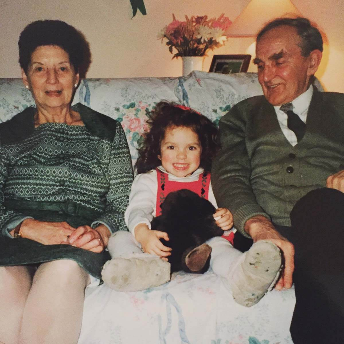 HOKA fan Louisa Davidson as a child with her grandparents