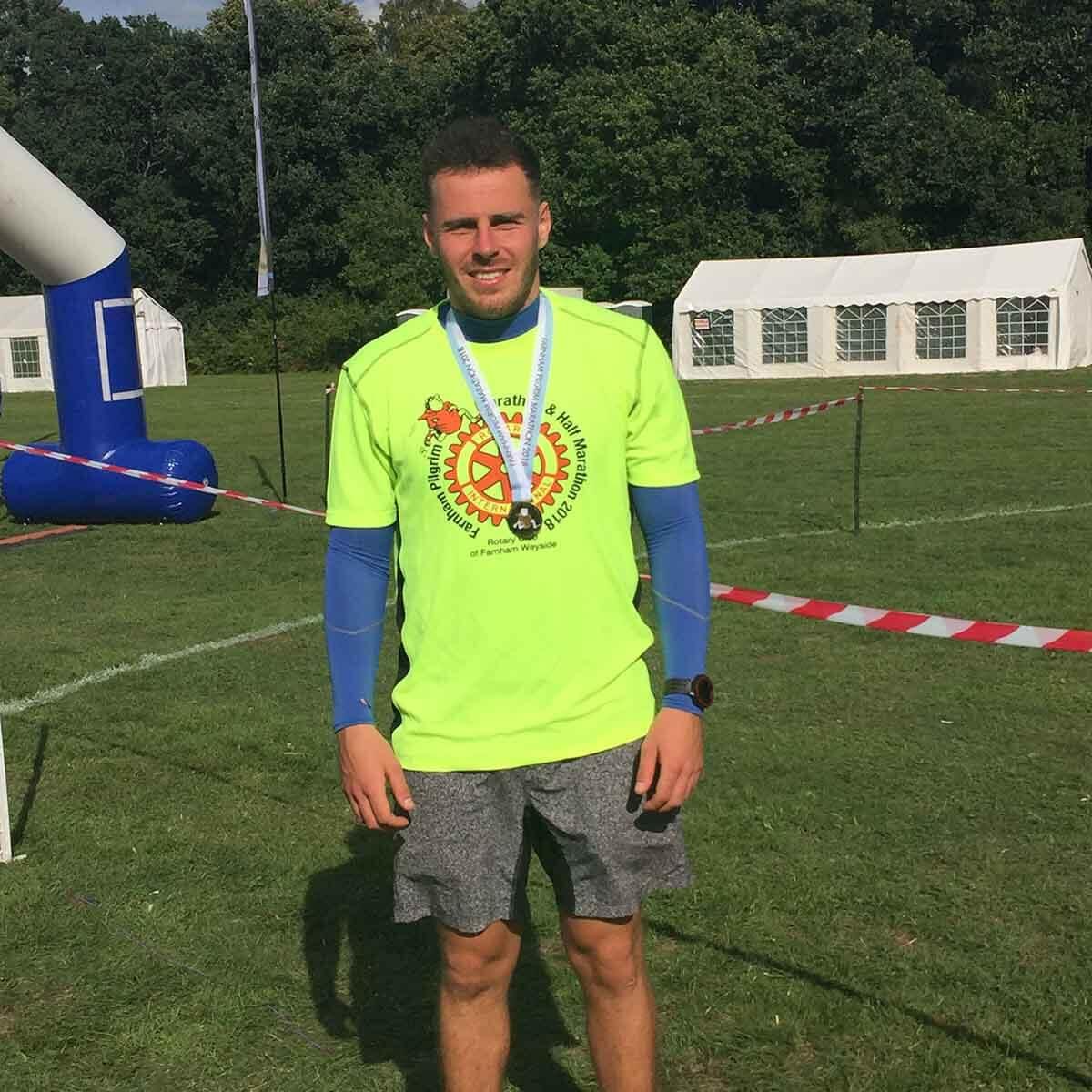 HOKA fan Simon after his second marathon event