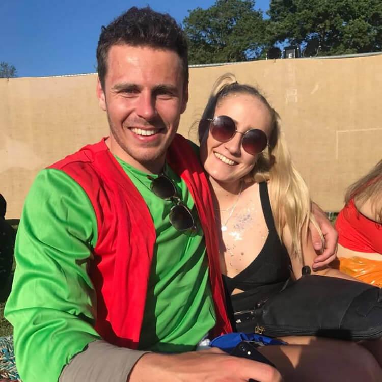 HOKA fan Simon with his girlfriend