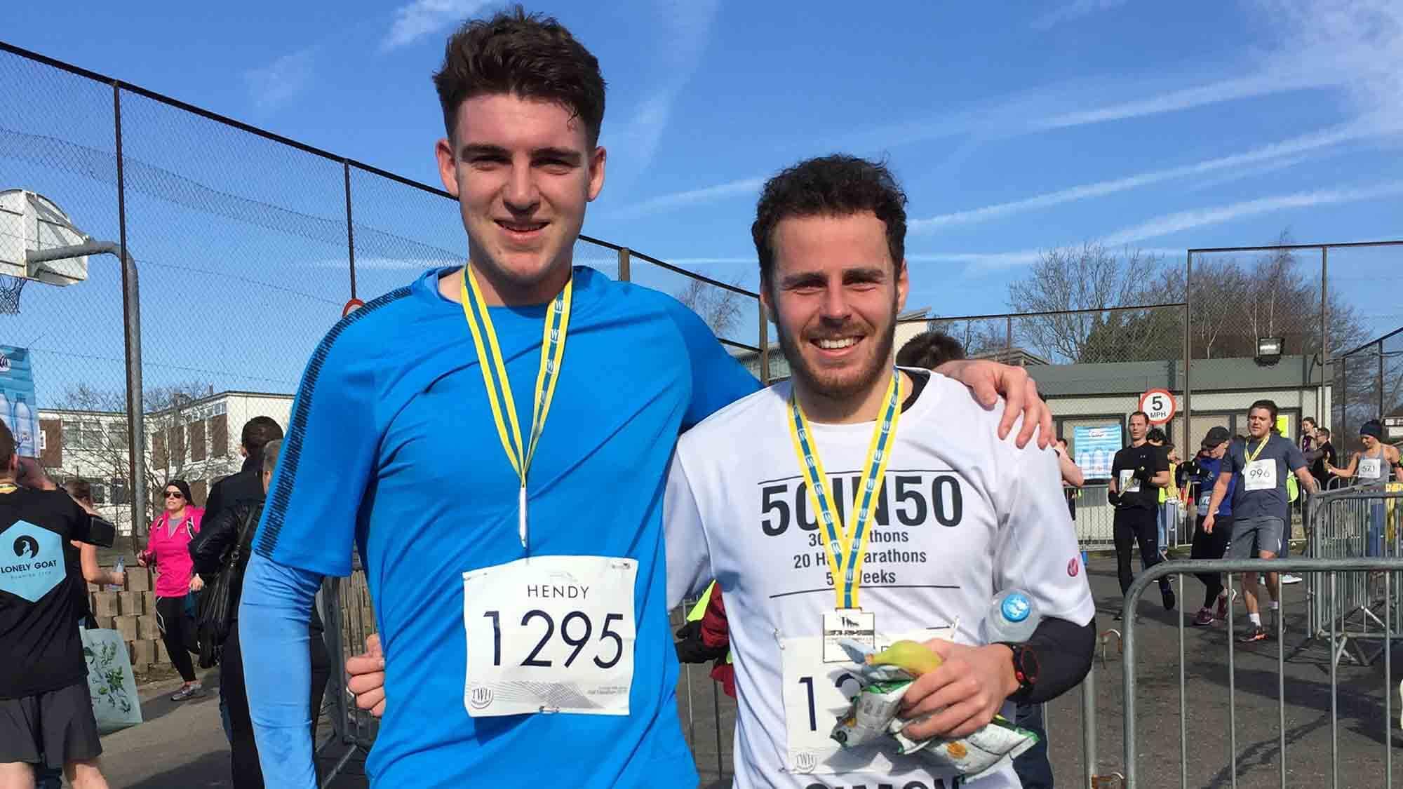 HOKA fan Simon Vaisey after his latest marathon in Tunbridge