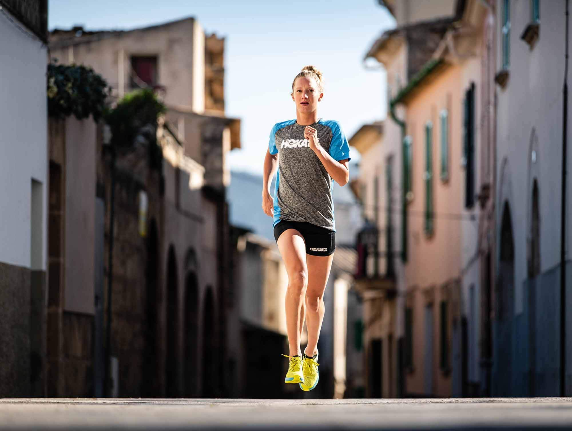 HOKA athlete Emma Pallant running in the Carbon Rocket