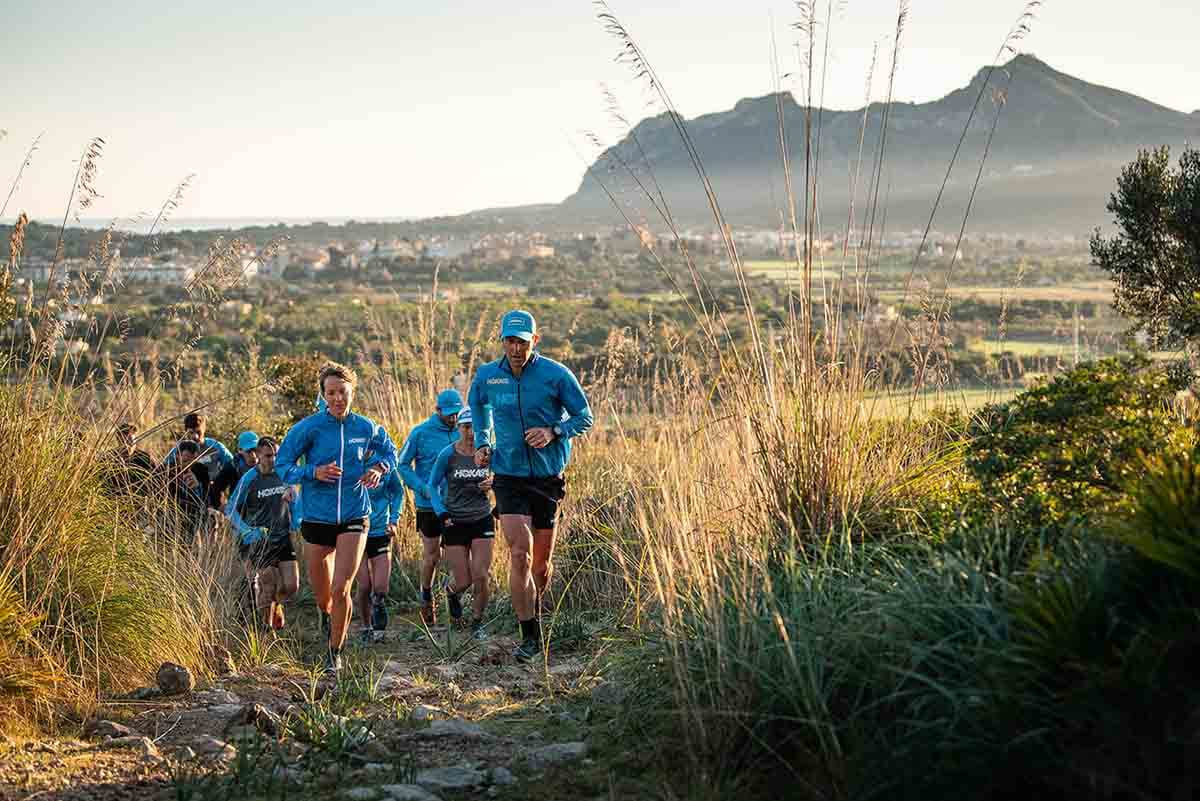 HOKA athletes training on the trails