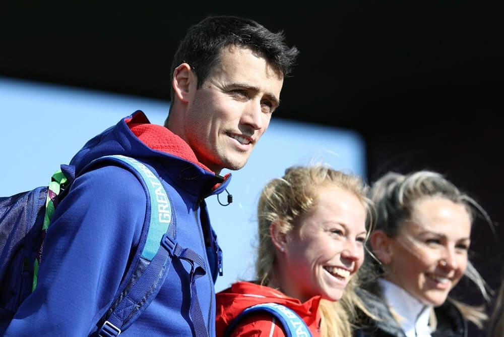 HOKA athletes Adam Hickey and Jenny Nesbitt at the World Cross Country Championships