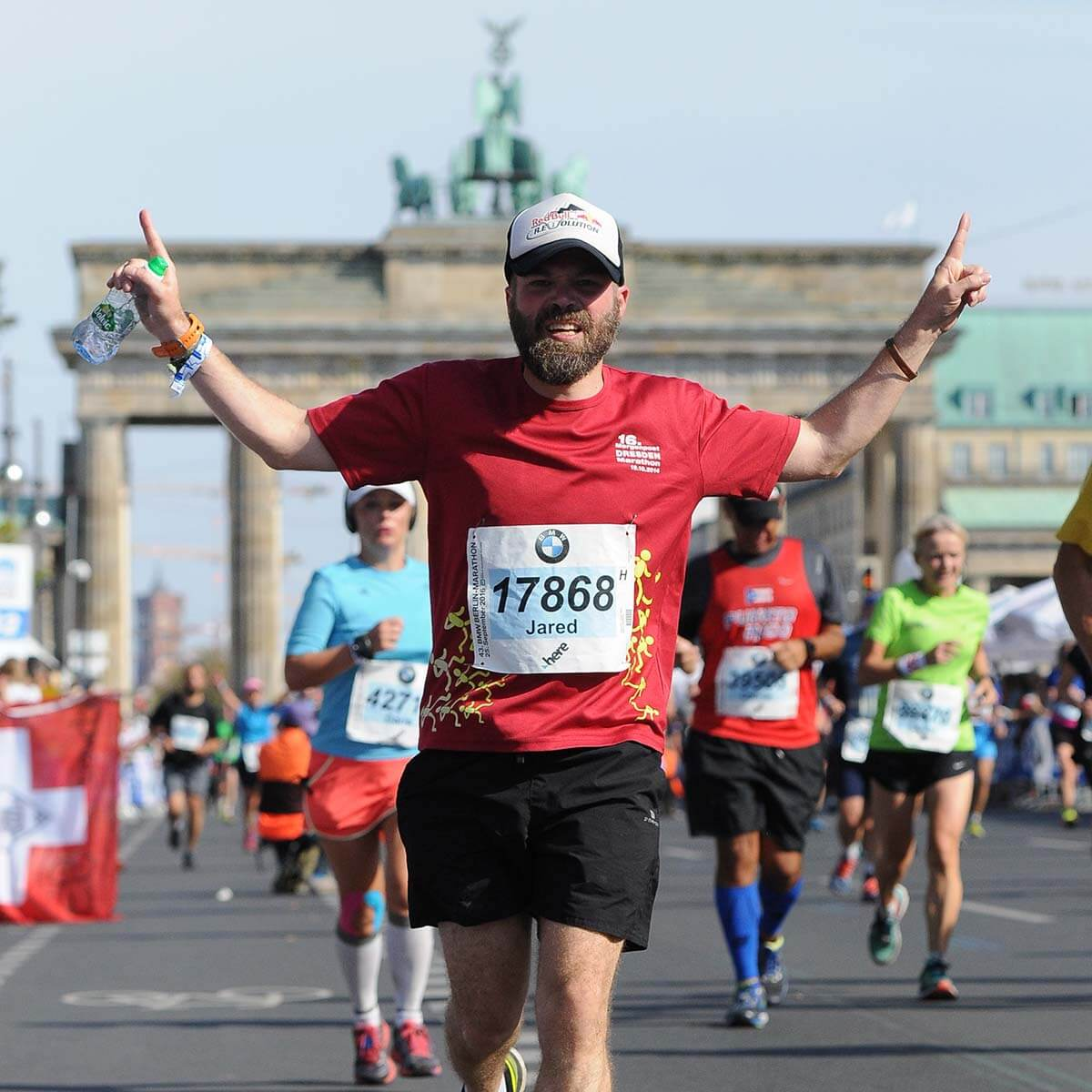 HOKA fan Jared running in Berlin