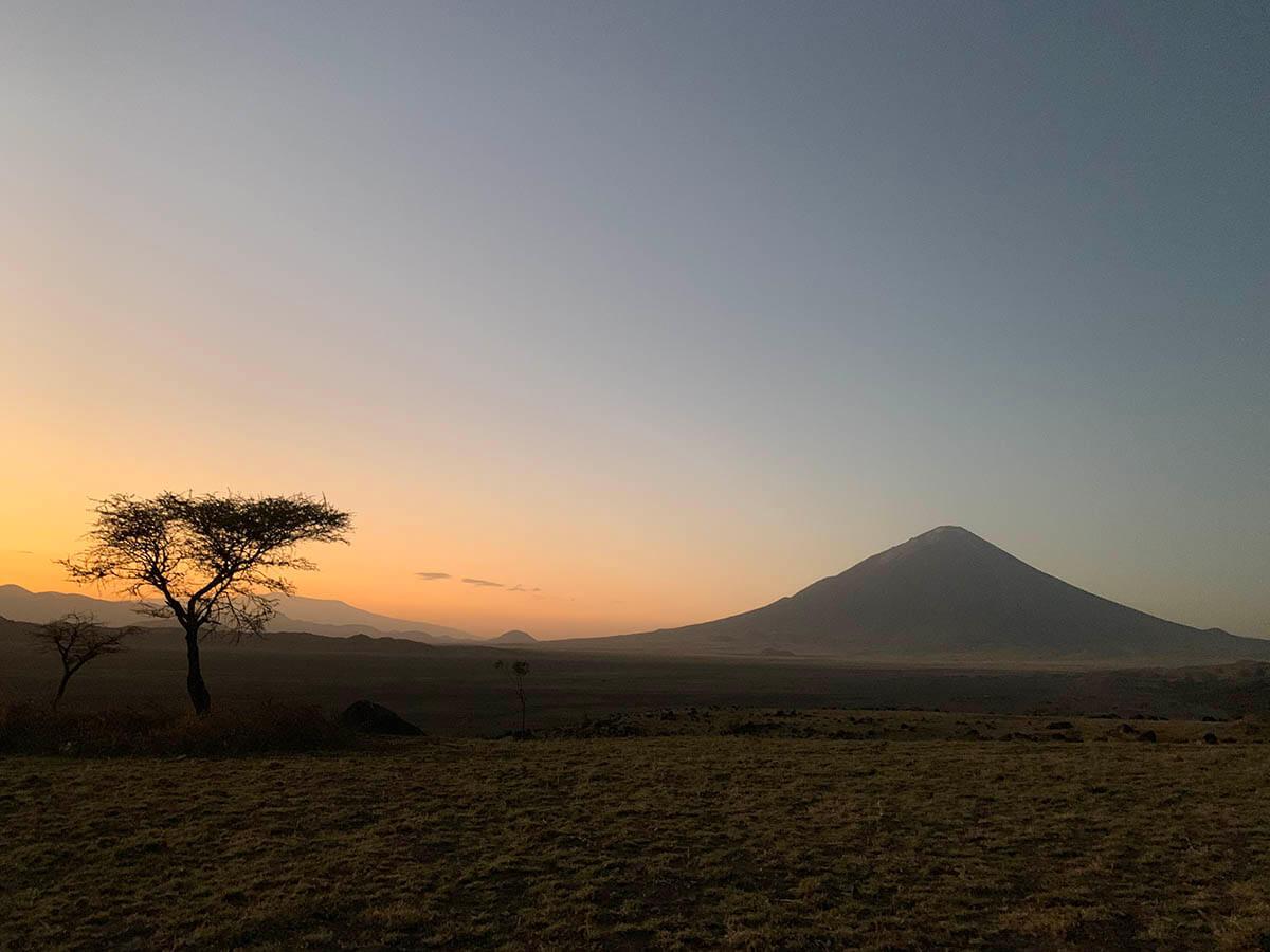 The landscape in Tanzania
