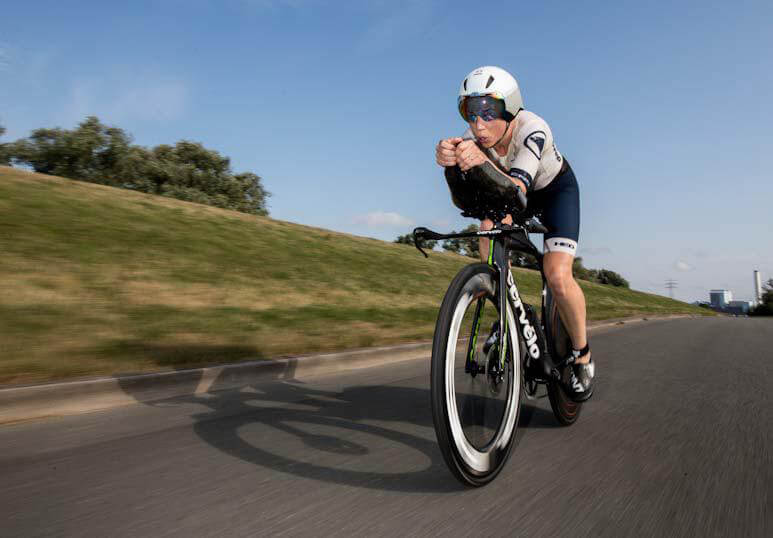 HOKA athlete Susie Cheetham takes control on the bike