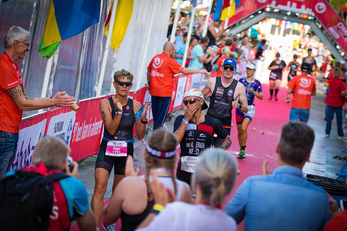 HOA athlete Yvonne van Vlerekn in tears at the end of Challenge Almere