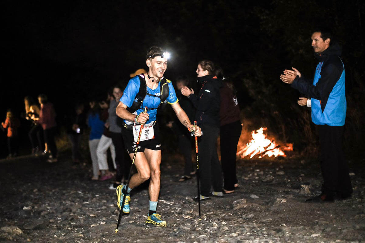 HOKA athlete Harry Jones smiles through the pain and the dark