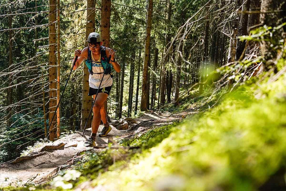 HOKA athlete Canhua Luo in action in the UTMB