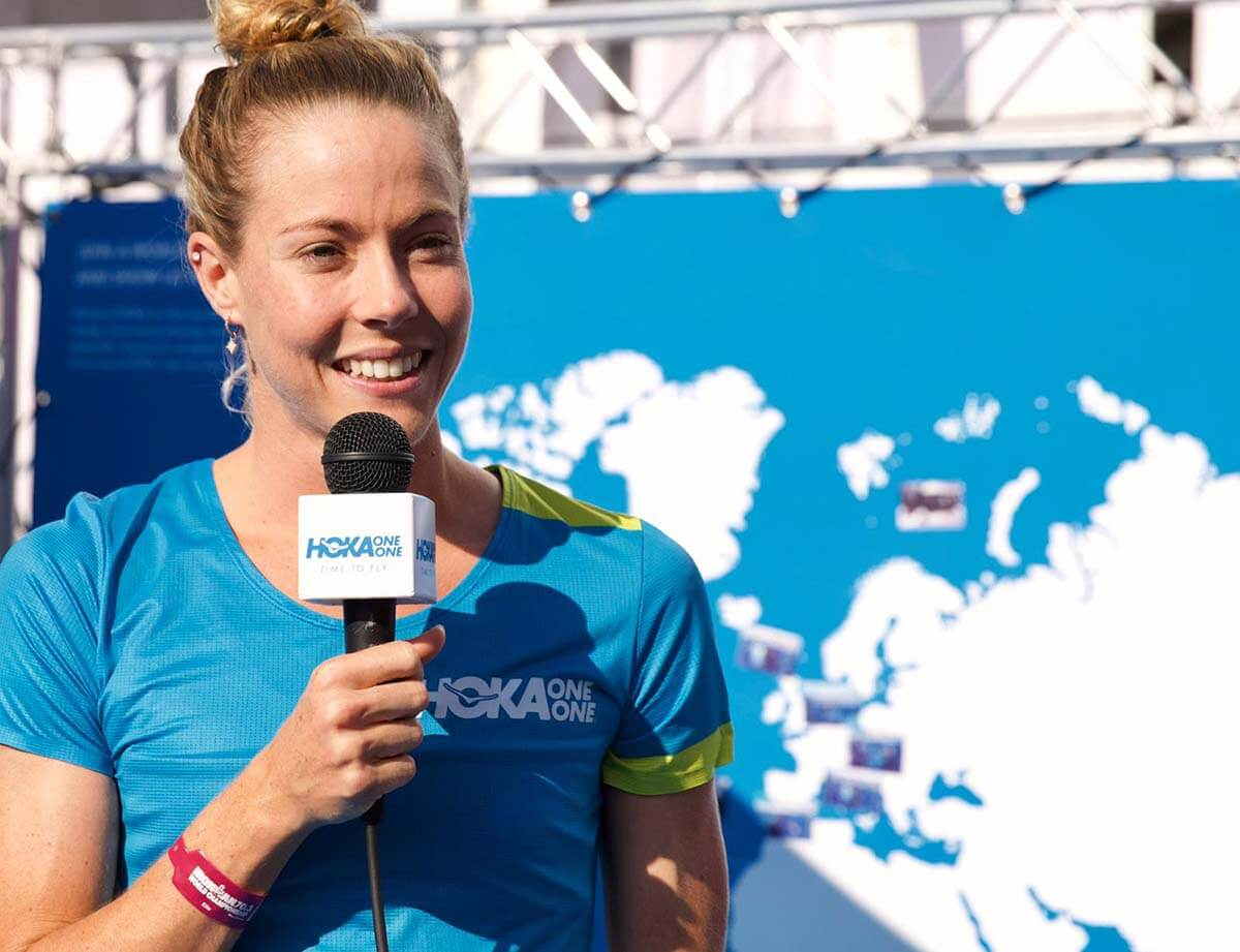 HOKA athlete Ellie Salthouse behind the scenes at IRONMAN 70.3 World Championship in Nice