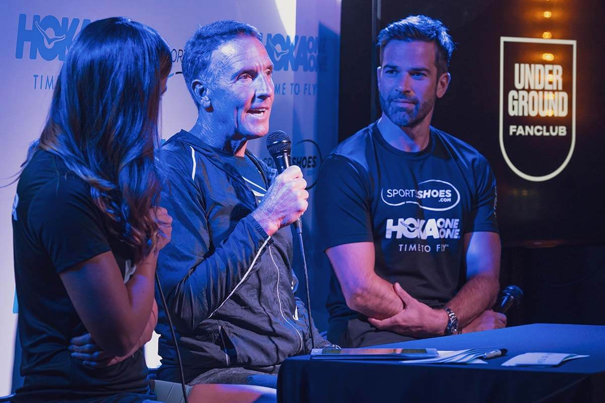HOKA and IRONMAN legend Dave Scott in conversation with Gethin Jones and Charlie Webster