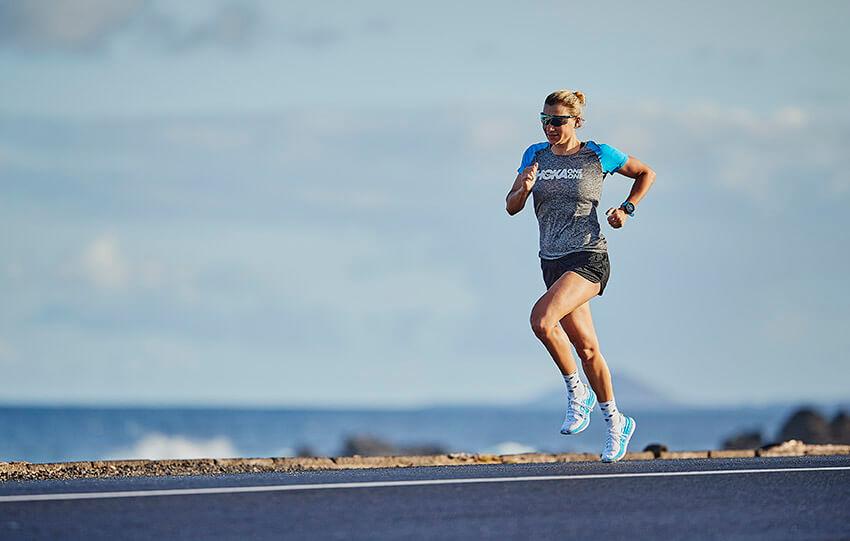 HOKA athlete Carolin Lehrieder runs in Lanzarote