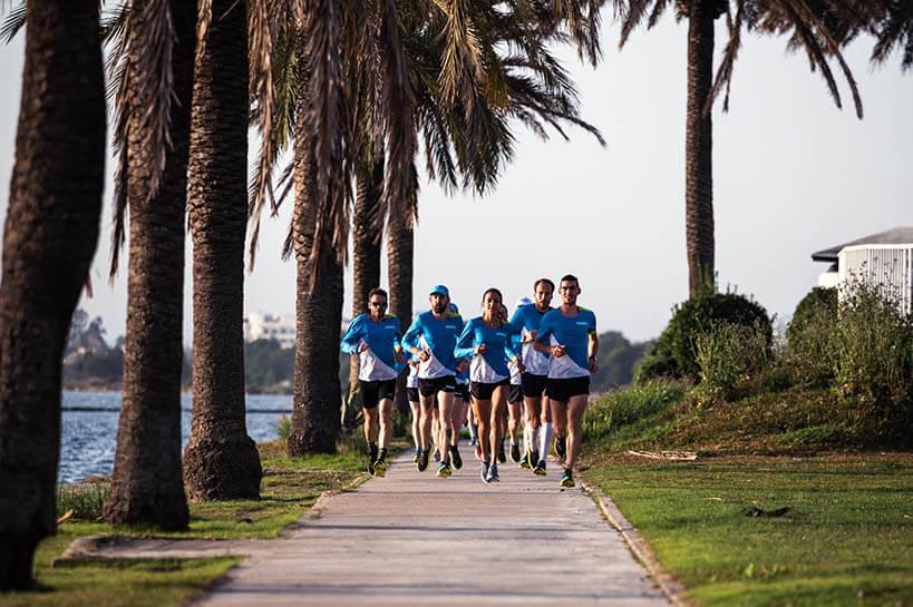 HOKA athletes out on a group run