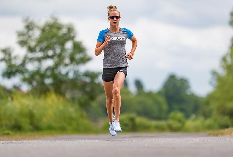 HOKA athlete Emma Pallant runs tall in Carbon X