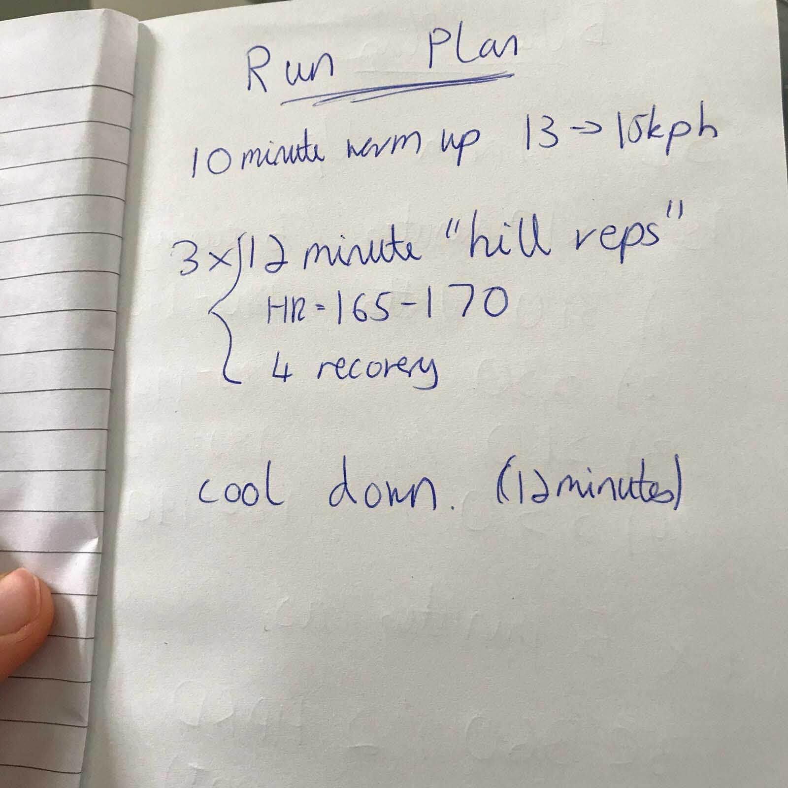 Running training plan for HOKA athlete David McNamee