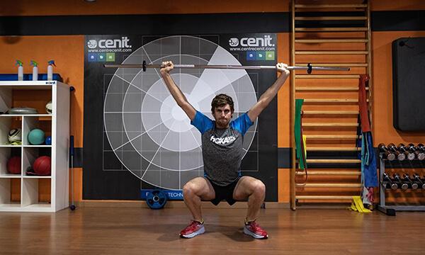 HOKA athlete David McNamee weightlifting