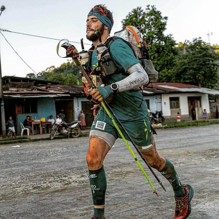 HOKA fan Mael Jouan towards the end of the Jungle Marathon